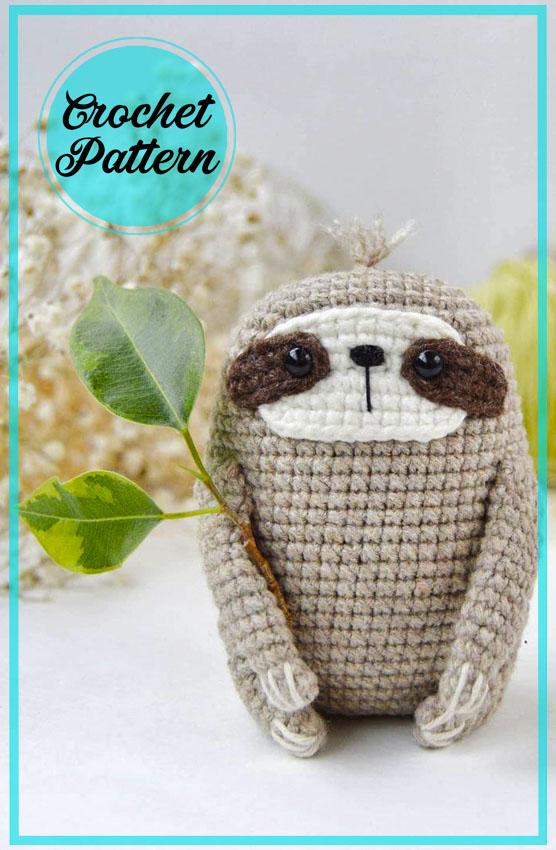 Little Sloth Amigurumi Crochet Pattern