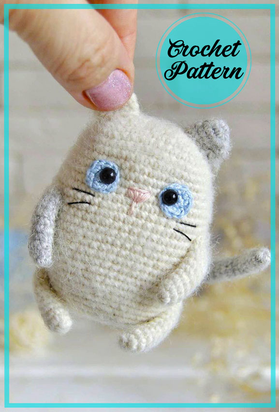 Funny Cat Amigurumi Crochet Pattern