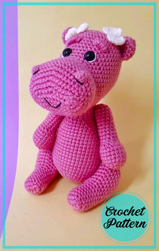 Pink Hippo Amigurumi Crochet free Pattern