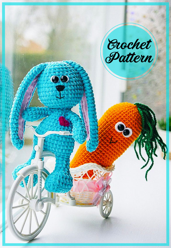 Easter Bunny with Carrot Amigurumi free pattern