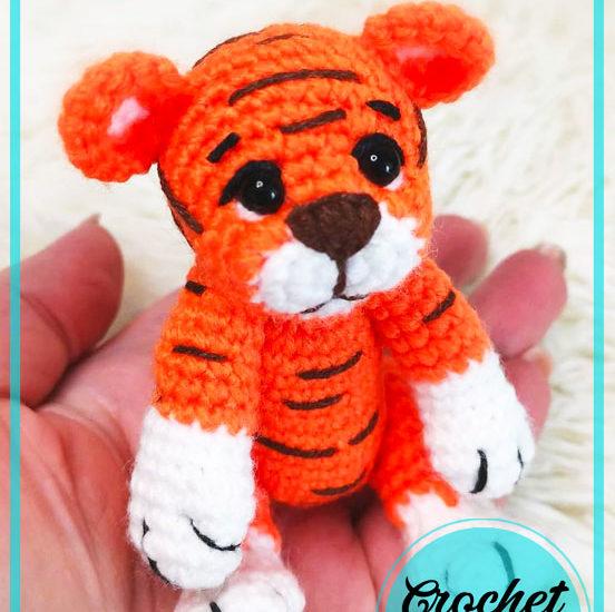 Little Finger Tiger Amigurumi Free Crochet Pattern