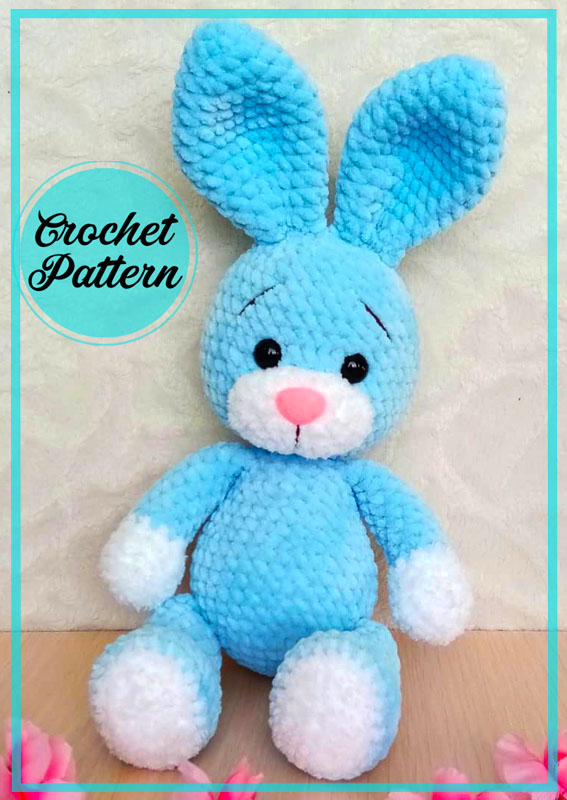 Plush Velvet Bunny Amigurumi Crochet Pattern