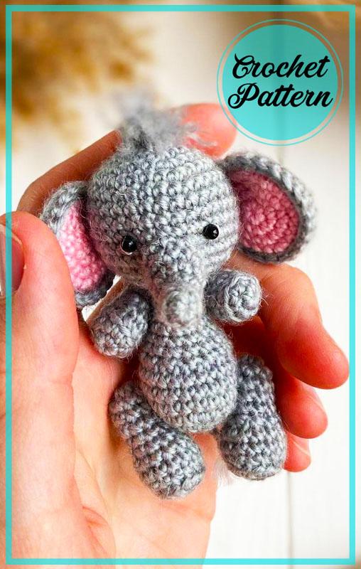 Little Elephant Amigurumi Free Crochet Pattern