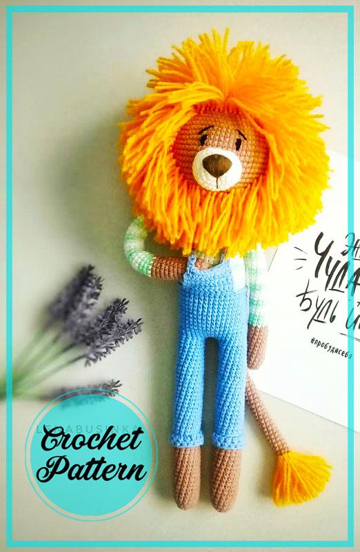 Lion in Costume Amigurumi Free Crochet Pattern