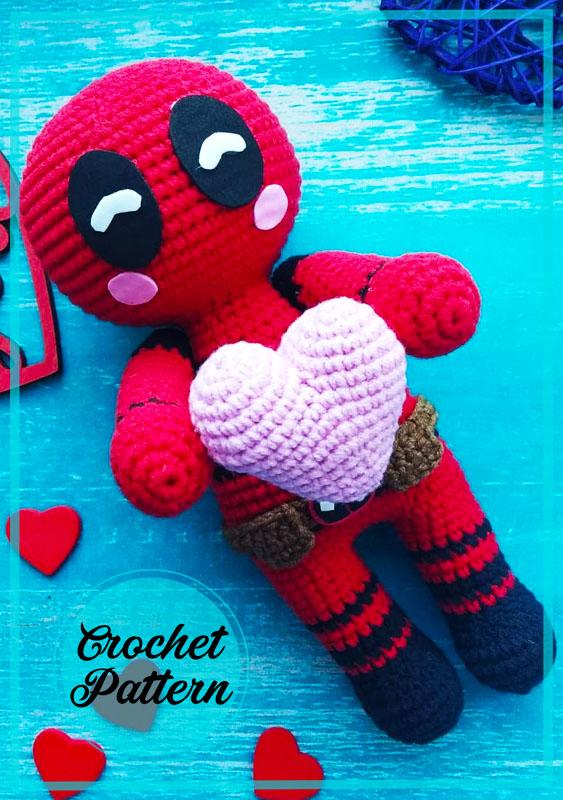 Deadpool Amigurumi Crochet Pattern