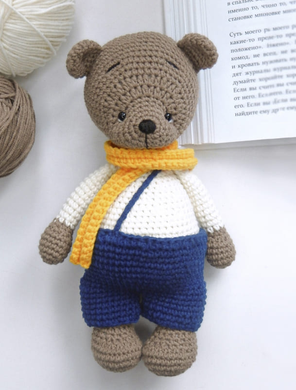 Barney the Bear Amigurumi Crochet Free Pattern