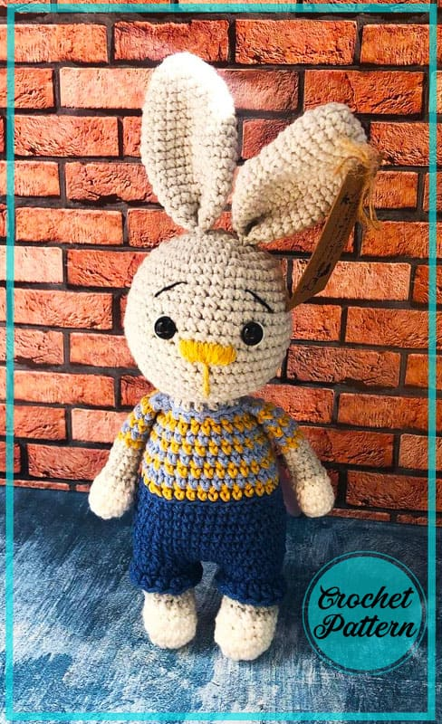 Bunny Pierre Amigurumi Free Crochet Pattern