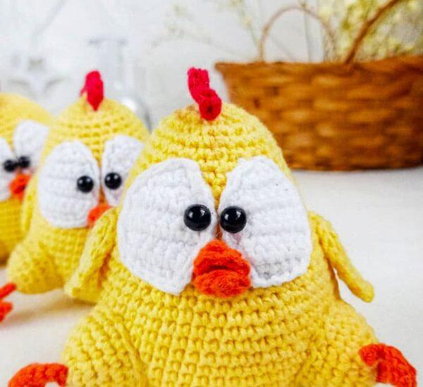 Chicken Chick Amigurumi Free Crochet Pattern