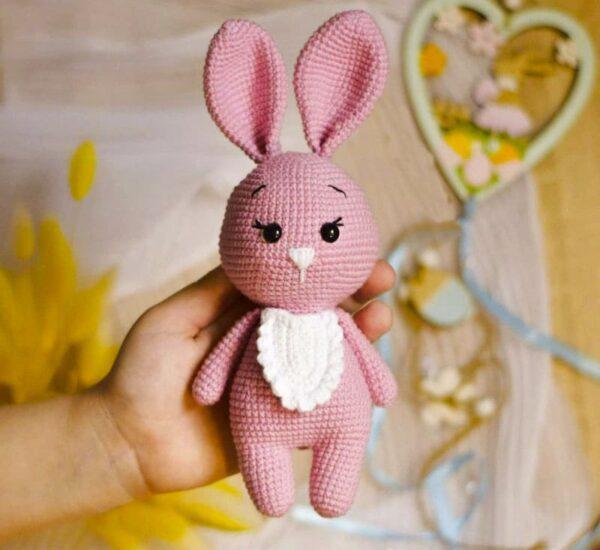 Cute Pink Bunny Amigurumi Crochet Pattern