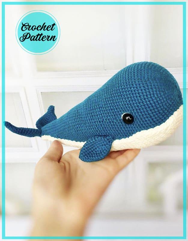 Cute Whale Amigurumi Crochet Free Pattern
