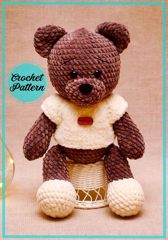 Easy Plush Teddy Bear Amigurumi Crochet Pattern