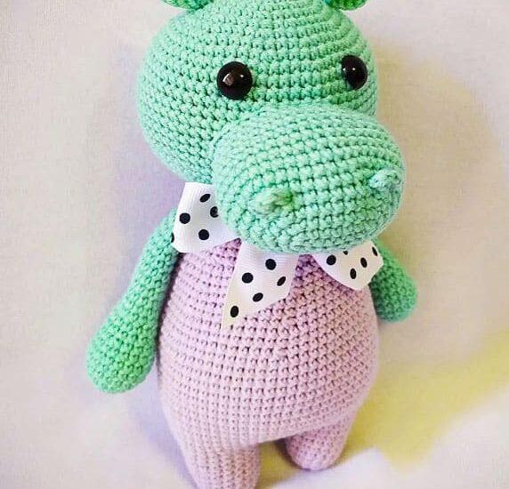 Hippo Gosh Amigurumi free crochet pattern