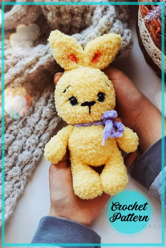 Lemon Plush Bunny Amigurumi Crochet Pattern