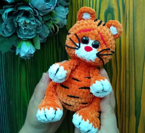 Neon Tiger Crochet Amigurumi Free Pattern