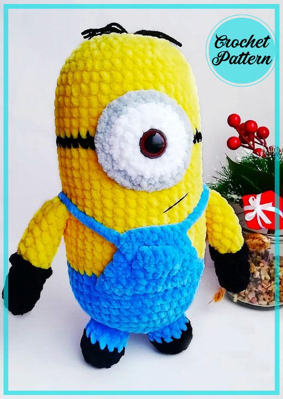 Plush Velvet Minion Amigurumi Crochet Pattern