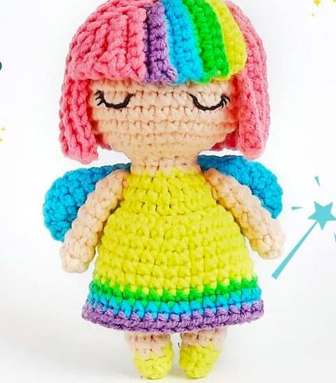 Rainbow Fairy Amigurumi Free Crochet Pattern