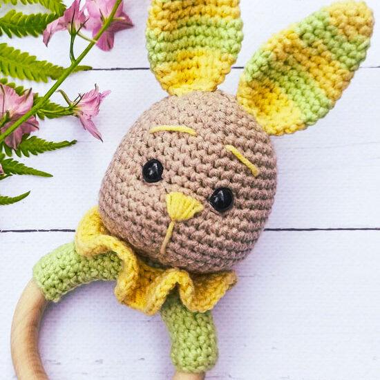 Rattle Bunny Amigurumi Crochet Free Pattern