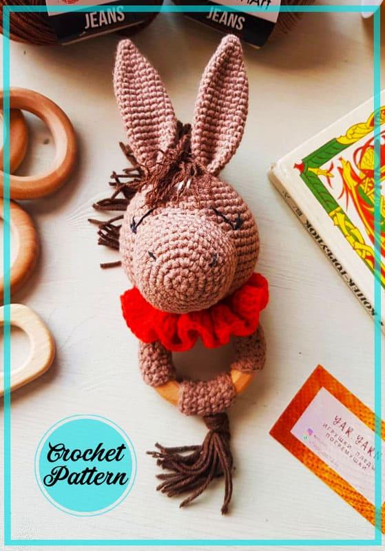 Rattle Horse Amigurumi Crochet Pattern