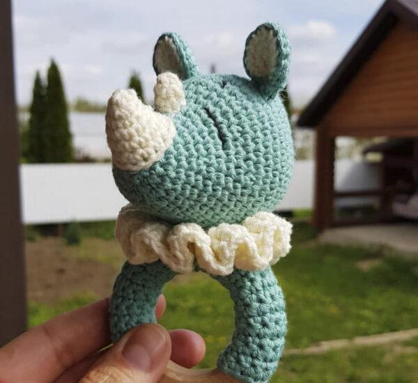 Rattle Rhino Amigurumi Free Crochet Pattern