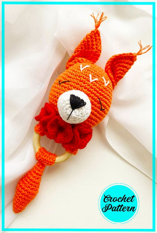 Squirrel Rattle Amigurumi Crochet Pattern