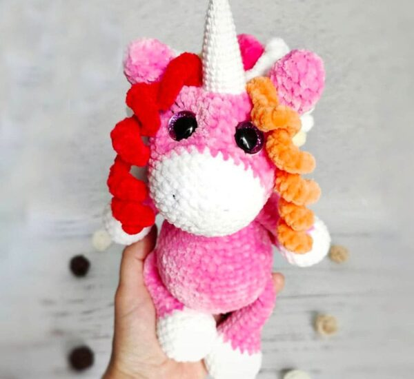 Velvet Plush Unicorn Amigurumi Crochet Pattern