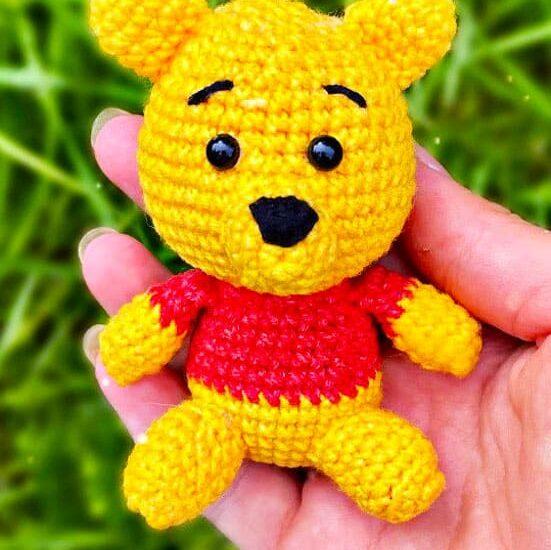 Winnie The Pooh Keychain Amigurumi Crochet Pattern