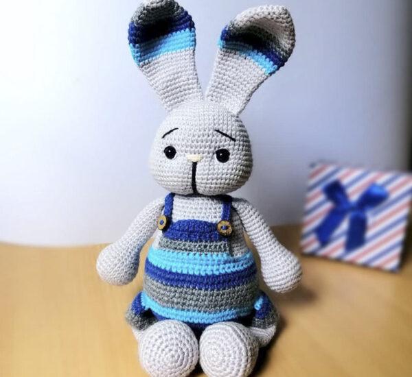 Bunny in Overalls Amigurumi Crochet Pattern