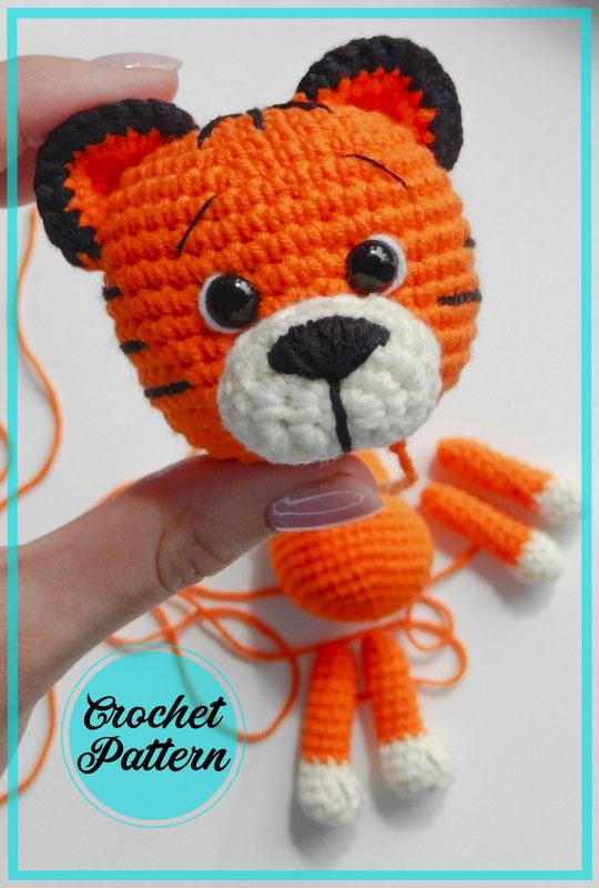 Freddie the Tiger Amigurumi Crochet Pattern