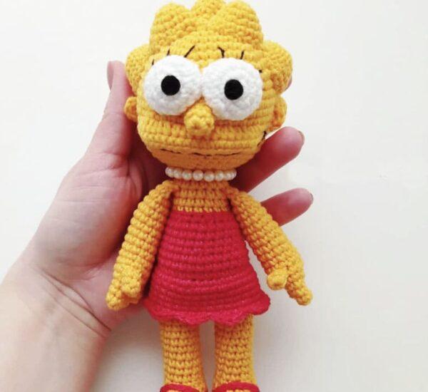 Lisa Simpson Amigurumi Crochet Pattern